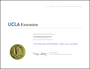 UCLA Extension Certificate